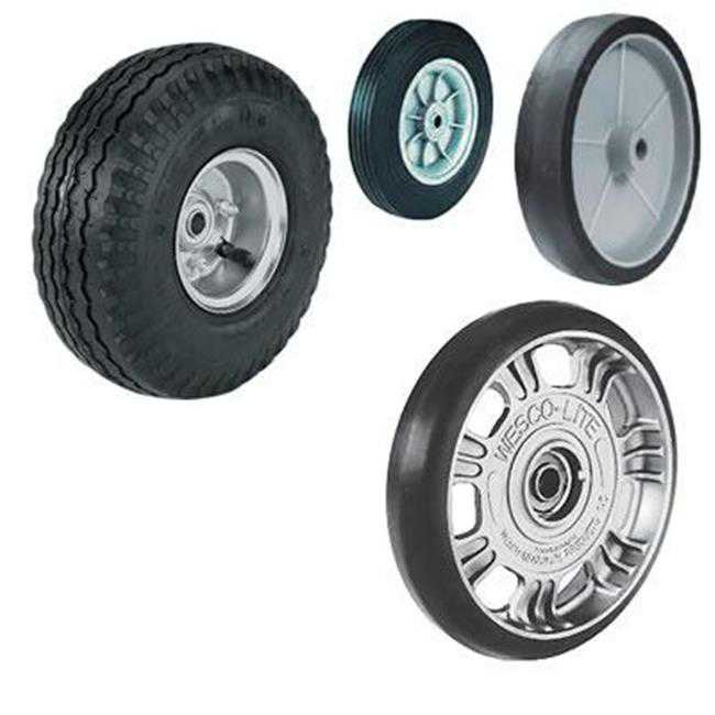 Wesco Industrial 052868 Aluminum Center Moldon Rubber Wheels H-1B 8 in.