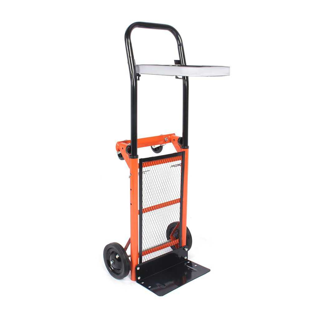 176 lbs Capacity Multi Functional Hand Truck Barrow Dolly for Indoor Outdoor Shopping Office