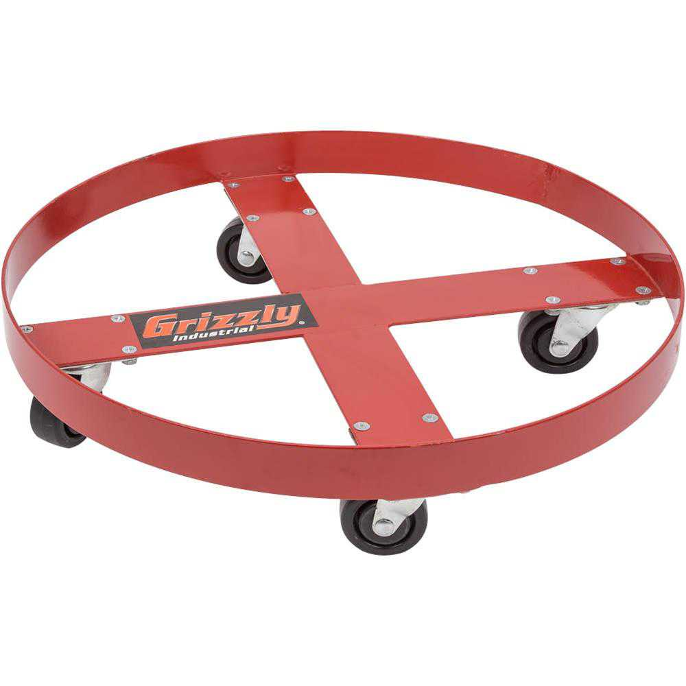 Grizzly H0761 Round Drum Dolly