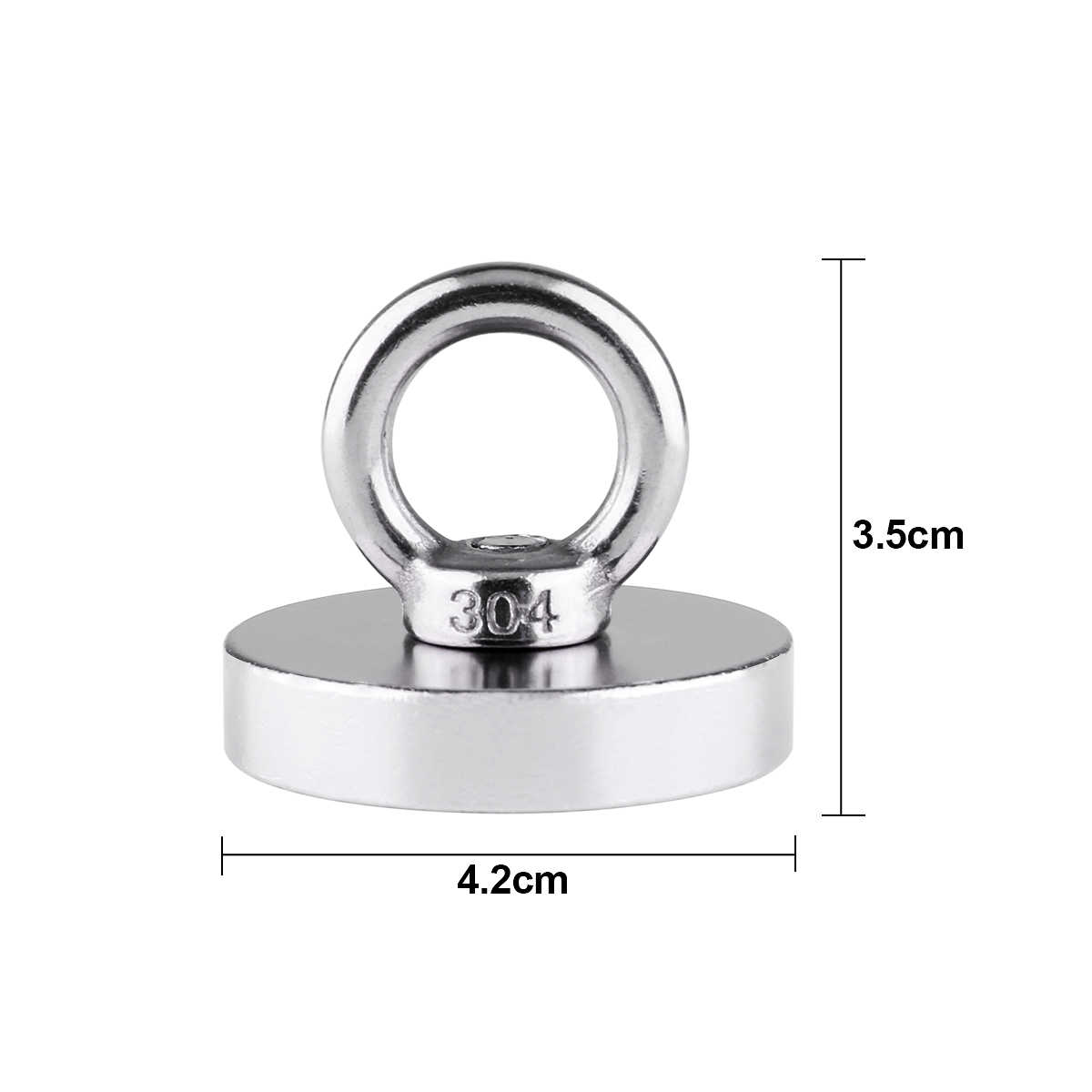 2 Pcs Strong Pulling Force Neodymium Iron Boron Magnet With Circular Rings For Salvage