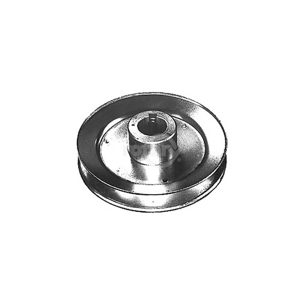 Steel Pulley. 2-1/2' OD X 5/8' ID.