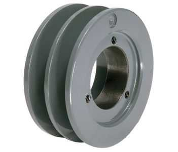 11.25' OD Double Groove 'H' Pulley (bushing not included) # 2AK114H