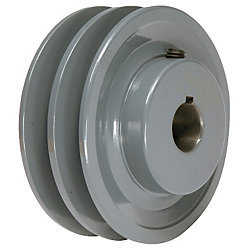 4.75' X 7/8' Double Groove AK Fixed Bore Pulley # 2AK49X7/8