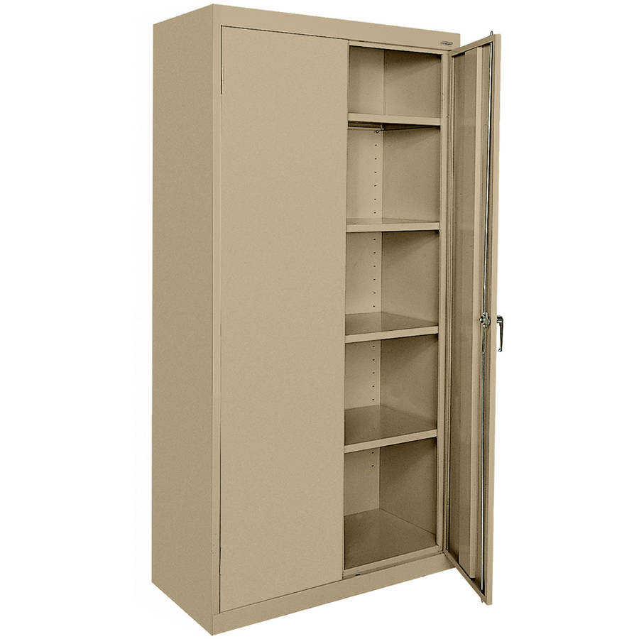 Classic Series 36'W x 72'H x 18'D Storage Cabinet with Adjustable Shelves, Tropic Sand