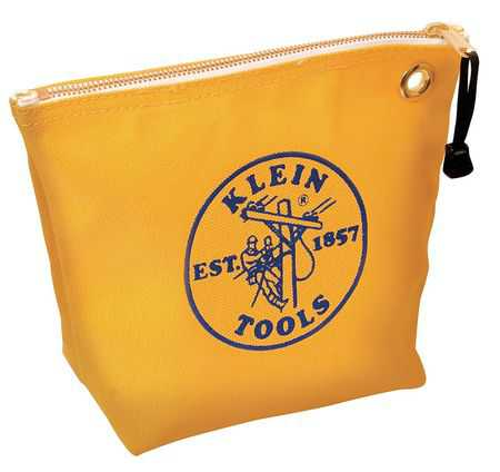 KLEIN TOOLS Tool Bag,1 Pocket,10'x3-1/2'x8',Yellow 5539YEL