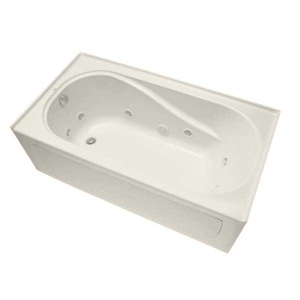 Mirabelle MIRPRW6032R Provincetown 60' X 32' Three-Wall Alcove Whirlpool Tub with Right Hand Drain