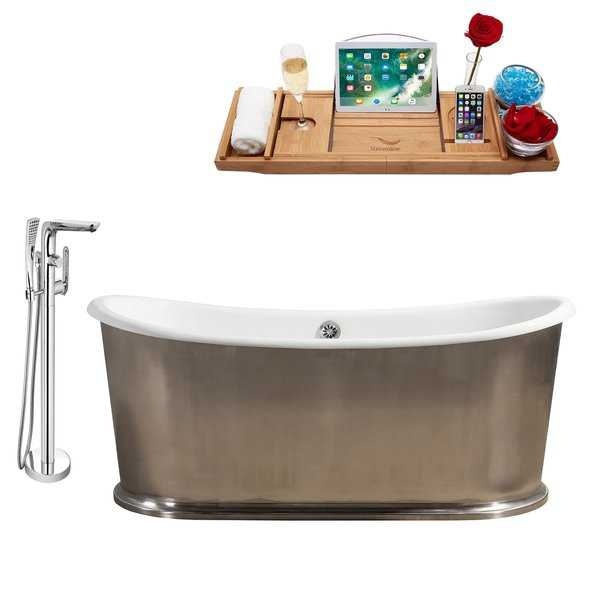 Cast Iron Tub, Faucet and Tray Set 72' RH5360CH-120