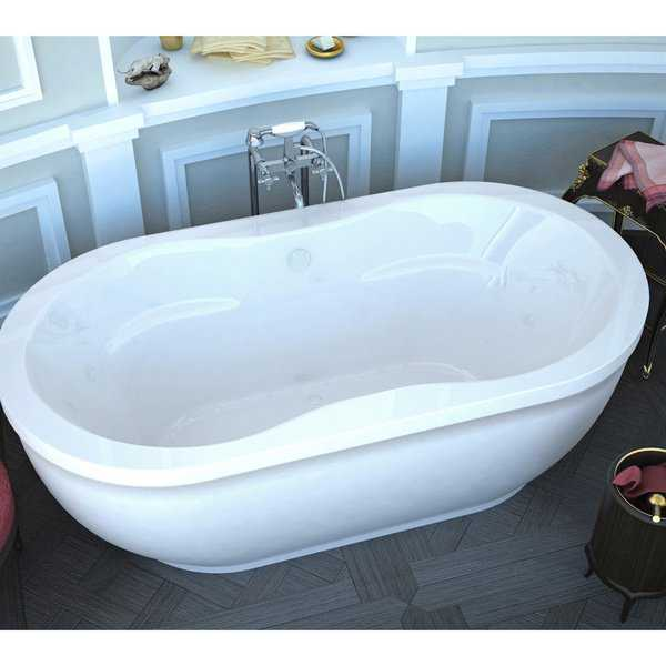 Atlantis Whirlpools Embrace 34 x 71 Oval Freestanding Air Jetted Bathtub in White
