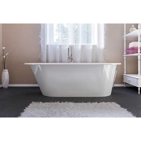 Aquatica Inflection A-F-Wht Freestanding Cast Stone​ Bathtub