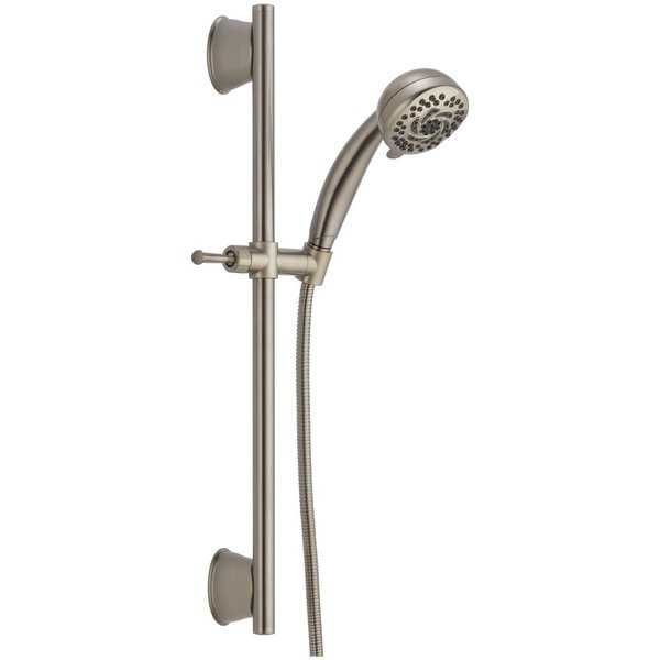Delta 51599-DS Universal Slide Bar with Multi Function Handshower and TouchClean Technology - Less Wall Supply - N/A