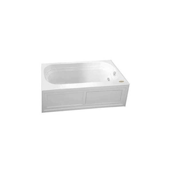 Jacuzzi LXS6030ARL2XX Luxura 60' Pure Air Alcove Bathtub with Right Drain and Basic Controls - White - N/A