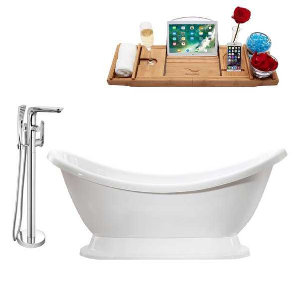 Tub, Faucet and Tray Set Streamline 69' Freestanding MH2380-120