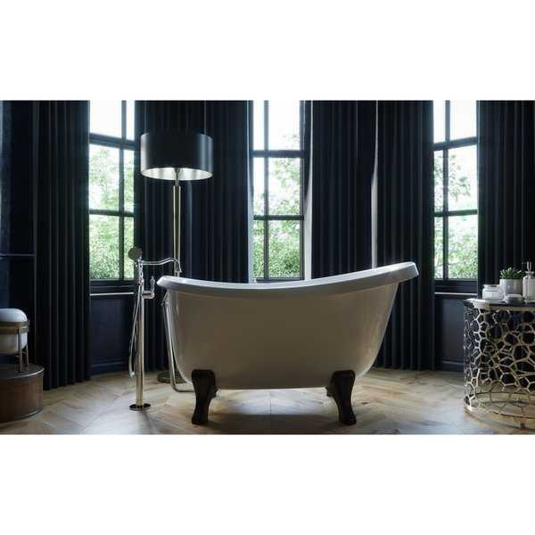 Aquatica Piccolo-Wht Freestanding Cast Stone Bathtub