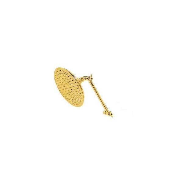 Elements Of Design DK13622 8' Brass Rain Shower Head with 169 Jets, 1/2' IPS Inlet and 10' Adjustable Shower Arm from the