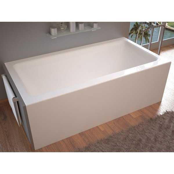 Avano AV3260SHL Sahara 60' Acrylic Soaking Bathtub for Alcove Installations with Left Drain - White