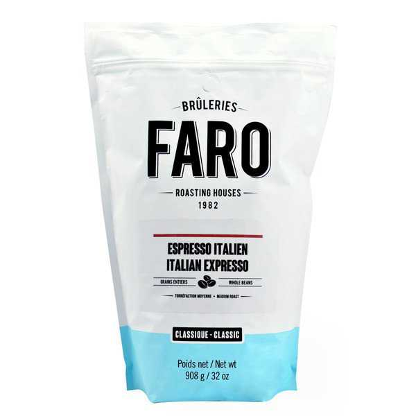Faro Roasting Houses 2-pound Bag Strong Italian Espresso Forte Whole Coffee Beans