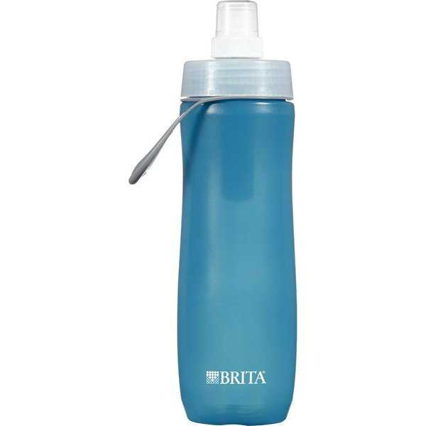 Brita 35558 Squeezable Water Bottle with Filter, Blue, 20 Oz