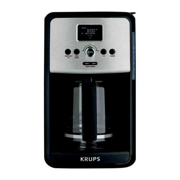Krups EC314050 Savoy 12-Cup Coffee Maker Stainless Steel